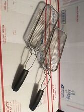 "NEW STAINLESS STEEL DEEP FRYER BASKETS 10"" X 4"" X 2.5"""