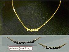 """collier prénom découpé doré Or Fin, PRENOMS DECOUPES. à Choisir dans """"La LISTE"""""""