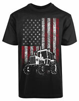 American Flag Tractor New Men's Shirt Liberal Labor Super Hero Classic Gift Tee