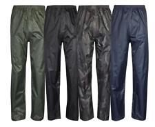 Mens Womens Rain Waterproof Over Trousers | Fishing | Walking | Work