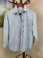 The Territory Ahead Womens Light Blue Longsleeve Button Up P (AA3)