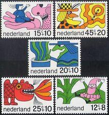 Paesi Bassi 1968 Goblin/Strega/Dragon/Fiabe/Cartoni Animati/Animazione 5 V Set n27294