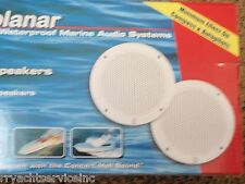 """MARINE STEREO BOAT SPEAKERS POLY PLANER 665 MA4056W 6"""" COAXIAL 80 WATTS PAIR"""
