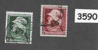 #3590    Complete 1935 War Hero's stamp set Wehrmacht / Third Reich Germany