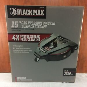 """Black Max 15"""" Gas Powered Pressure Washer Surface Cleaner"""