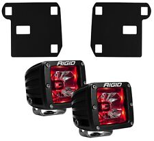 RIGID LED Fog Light Kit Radiance Lights Red Backlight for 15-17 Chevy Colorado