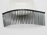 5 Black Metal 30-Teeth Hair Side Combs Clips 110X37mm for Hair Accessories DIY