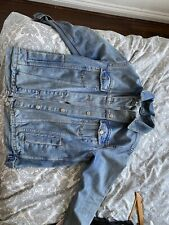 topshop denim jacket size 10