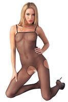 Catsuit bodystocking donna nero perizoma sexyshop intimo lingerie body aperto