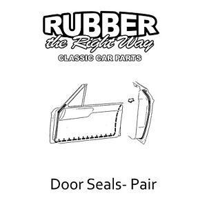 1963 1964 1965 Ford Fairlane 2 Door Hardtop Door Seals - pair RH / LH