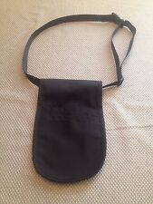 "6 F31 Fame Fabrics Black Money Pouch Apron 12""L x 7.5""W & 54""L Black Click Belt"