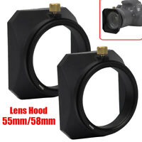 55mm/58mm Square Lens Hood Shade for Mirrorless Cameras Digital Video Camera