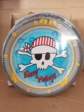 8 x Ahoy Matey! Pirate Party Plates Happy Birthday