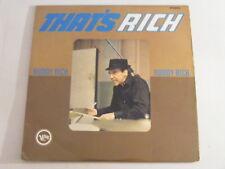 BUDDY RICH That's Rich Ex+ Verve UK 1960s Jazz LP