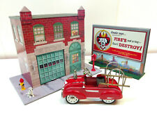 Diorama Pedal Car - Caserne de pompier
