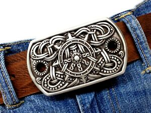 Gürtelschnalle Ornament keltisch Wikinger Wechselgürtelschnalle silber 4cm