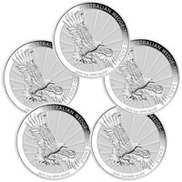 5 x 2019 Wedge Tailed Eagle 1oz Silver Bullion Coin