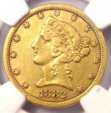 1882-CC Liberty Gold Half Eagle $5 Coin - NGC XF Details - Rare Carson City!