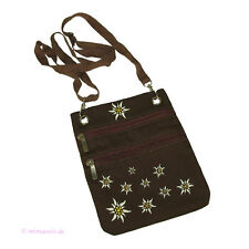 dfbe3151141e4 Trachtentasche Tasche für Tracht Dirndl mit Edelweiß braun Umhängetasche