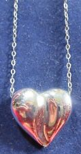 STERLING SILVER 18 INCH CHAIN WITH A HEART PENDANT