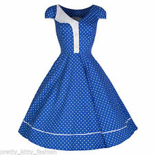 Cotton Blend Party/Cocktail Polka Dot Dresses for Women