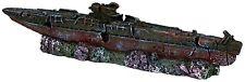 """Submarine Wreck Aquarium Ornament Fish Tank Decoration 18cm (7"""")"""