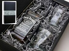 """meinglas24"" Geschenkkarton mit Jack Daniels Whisky 40% 0,7l + 2 Tumbler Gläser"