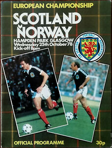 Scotland v Norway European Championship Official Programme 25th October 1978