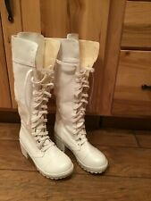 NEW Women's White Tall Boots Size 8
