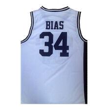Len Bias #34 Northwestern High School Basketball Jerseys Stitched White Black