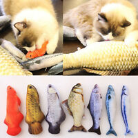 Cat Kitten Chewing Mint Stuffed Fish Pet Interactive Play Scratch Fuuny Toy New