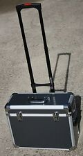 Pro Rolling Aluminum Makeup Case Suitcase Train Box Wheeled Storage Lockable