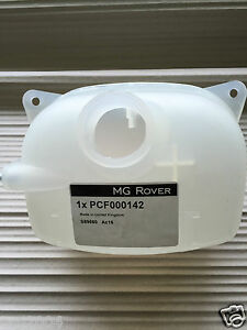 MGF & MG TF COOLANT EXPANSION TANK, GENUINE NO SENSOR, NEW (PCF000140 141 142)