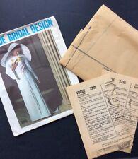 Vogue Bridal Sewing Pattern Vtg 2315 1960s Bride Bridesmaid Formal Dress Raglan