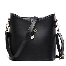 New Women Small Bag Elegant Bucket Bags Lady Shoulder Cross-body Bag Black