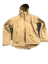 FREE SOLDIER Tactical Soft Shell Men's Jacket/Coat Hooded Tan Medium