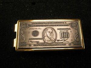 -One Hundred Dollar Bill Federal Reserve Note Vintage ANSON Money Clip cash