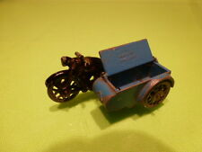 MORESTONE MADE IN ENGLAND - VINTAGE  MOTORCYCLE WITH SIDECAR - GOOD CONDITION