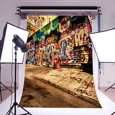 Vinyl Photography Backdrop Street Graffiti Background Studio Props 5x7FT GY91 CP