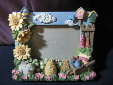 Decorative Picture Frame Flowers, Bee Hive, Watering Can