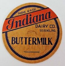 INDIANA DAIRY COMPANY South Bend, Indiana Vintage Dairy Milk Bottle Caps