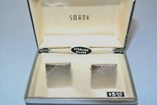 Vintage Sterling Silver Mid Century Modern Swank Cufflinks ~ New Old Stock