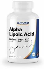 Nutricost Alpha Lipoic Acid 600mg 240 Caps PREMIUM Quality BEST Value