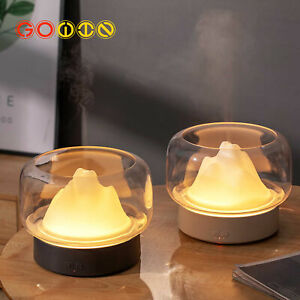 Aroma Diffuser 400ML Moutain View With Warm and Color LED Lamp Humidificador