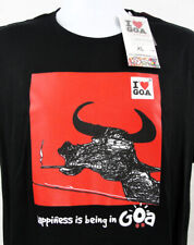 I Heart Goa India T Shirt Mens Size Large Womens XL Black New Happiness Bull