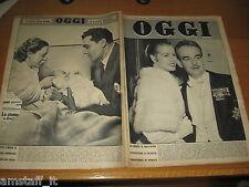 RIVISTA OGGI 1956/3=GRACE KELLY=ANNA MARIA PIERANGELI=LA 600 A SEI POSTI=
