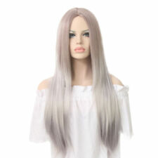 Silver Synthetic Straight Wigs & Hairpieces