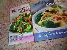 Lot of 2 GUC cookbooks Healthy Dishes and Energy Food eating better health books