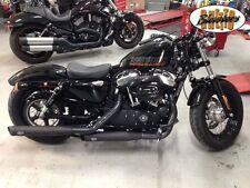MCJ Auspuff Schwarz mit versch EndCaps, für Harley Sportster 04-16, EG-BE Euro3