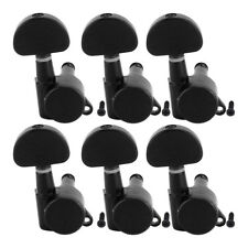Guitar Locking Tuning Pegs Keys Machine Heads for Acoustic Parts Black 6R Inline